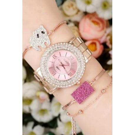 ست ساعت دستبند مدل دار زنانه