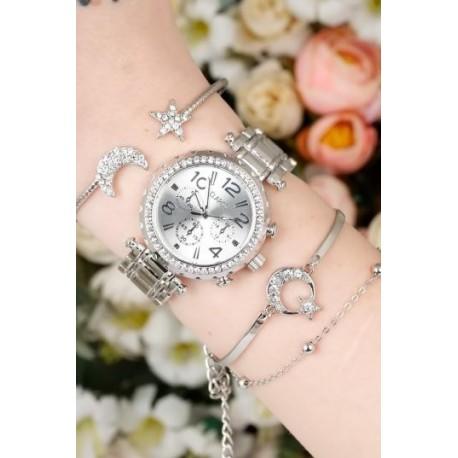 ست ساعت دستبند ستاره ای زنانه