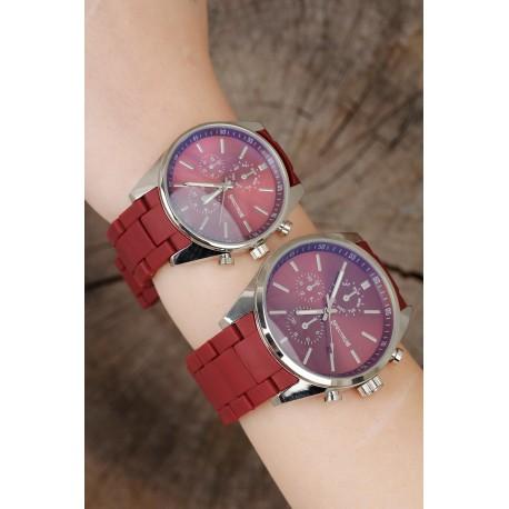ست ساعت قرمز زنانه مردانه
