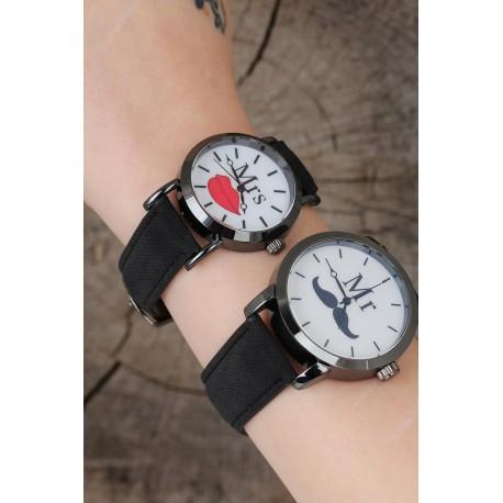 ست ساعت مشکی زنانه مردانه