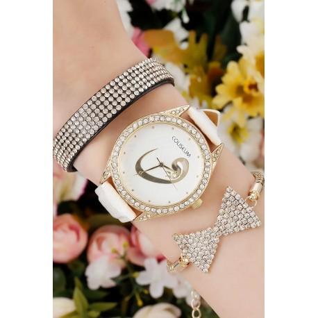 ست ساعت دستبند پاپیونی زنانه