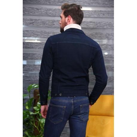 کت جین سرمه ای مردانه