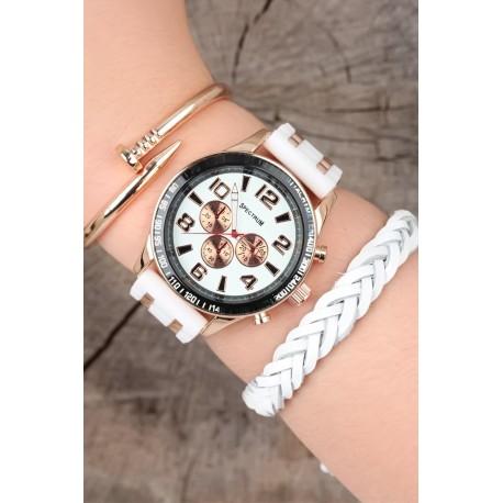 ست ساعت دستبند سفید مردانه