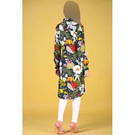 مانتو گلدار زنانه