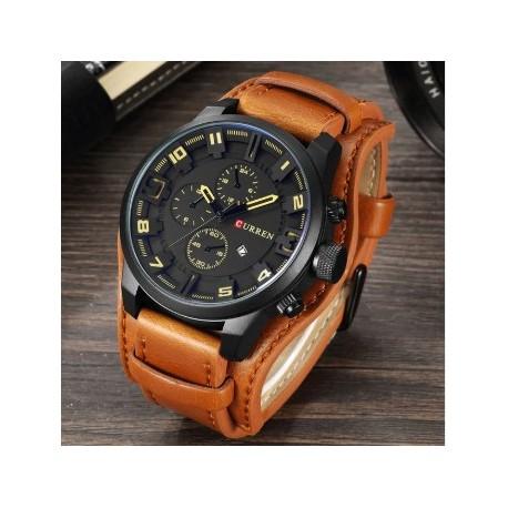 ساعت بندقهوه ای مردانه