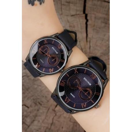 ست ساعت دستبند مشکی زنانه مردانه
