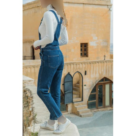 شلوار جین پیشبندی زنانه
