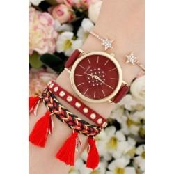 ست ساعت و دستبند قرمز