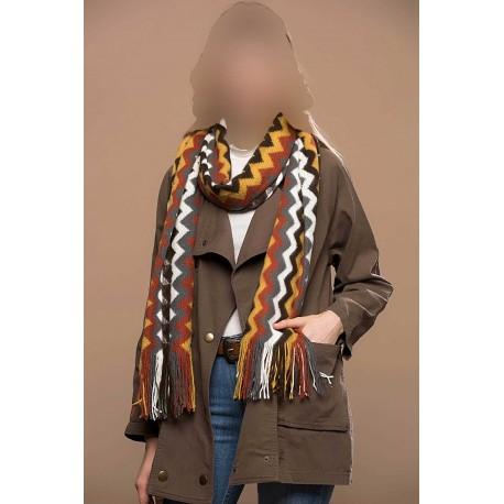 شال گردنی طرحدار زنانه