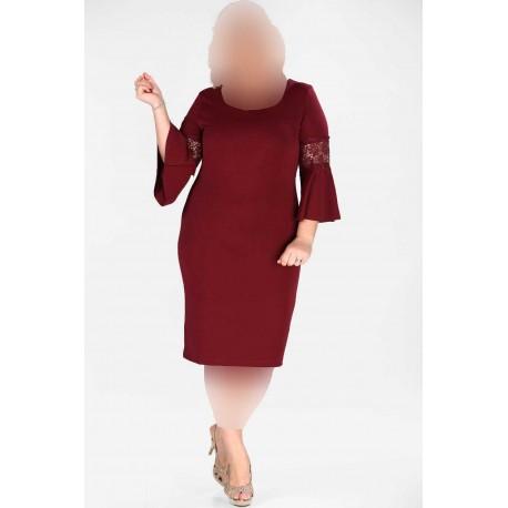 لباس مجلسی زرشکی زنانه