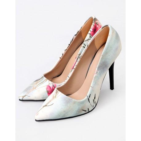 ست کیف و کفش گلدار