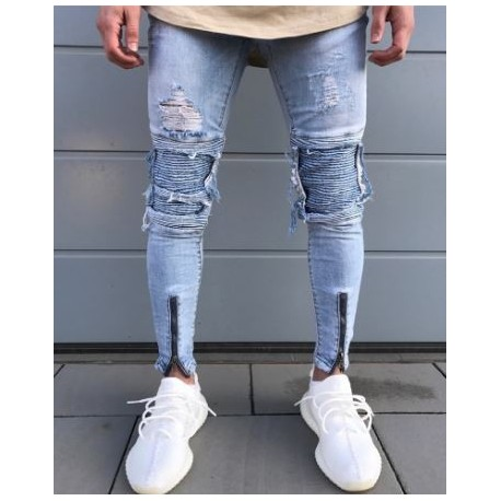 شلوار جین دمپا زیپ دار