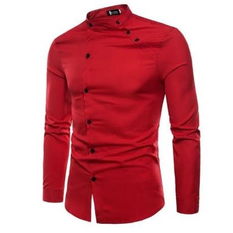 پیراهن یقه دیپلمات قرمز
