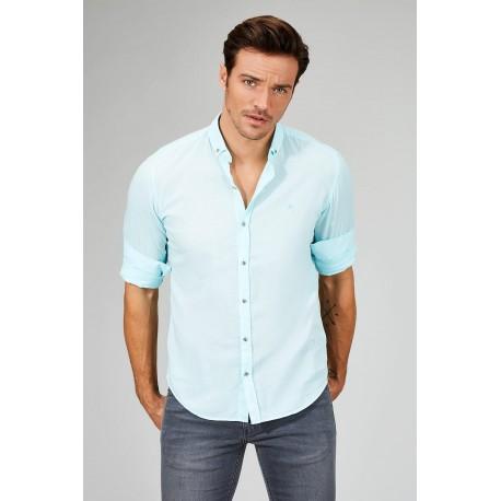 پیراهن مردانه سبز آبی