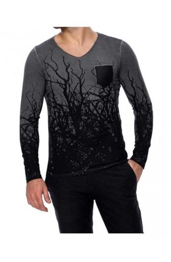 خرید لباس خرید اینترنتی لباس تیشرت آستین بلند طرحدار مردانه فروش لباس