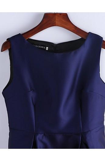 پیراهن مجلسی کوتاه استین حلقه ای زنانه