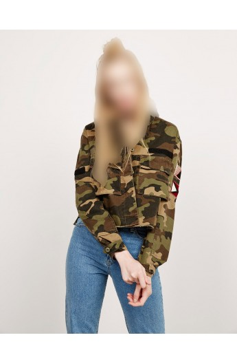 کت جین ارتشی زنانه برشکا