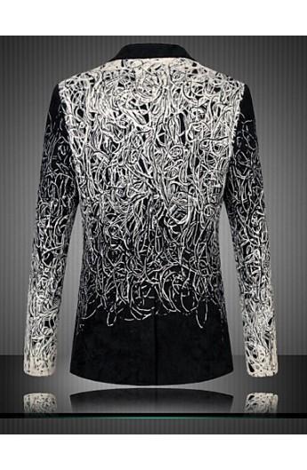 کت تک طرح سیاه و سفید مردانه