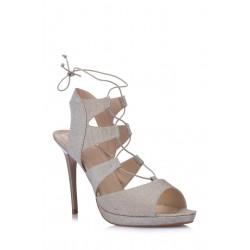کفش پاشنه دار مدلدار زنانه