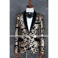 کت طلا کوب شده مردانه