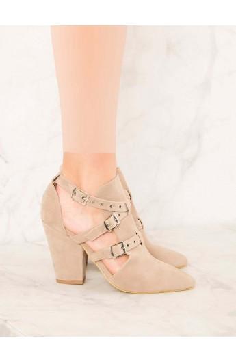 کفش سگک دار پاشنه دار زنانه