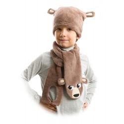 کلاه و شال گردن مخملی پسرانه