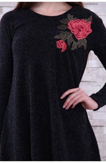 تونیک یقه گرد و گلدار زنانه