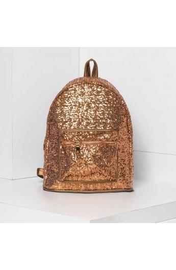 کوله پشتی طلایی زنانه