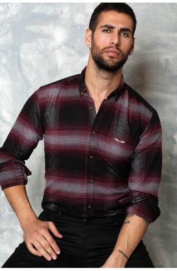 پیراهن چهارخانه طرح دار