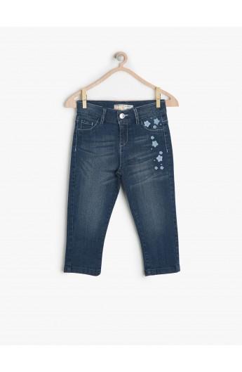 شلوار جین طرح دار دخترانه