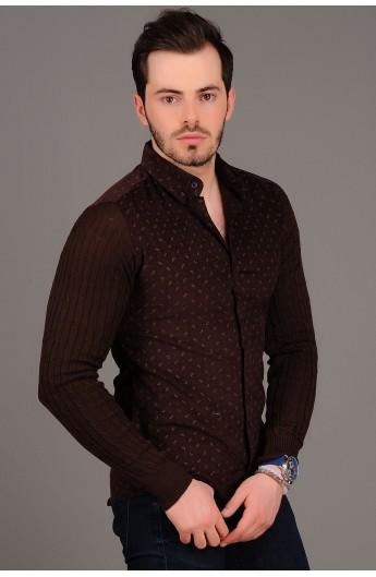 پیراهن طرحدار و تریکوی مردانه