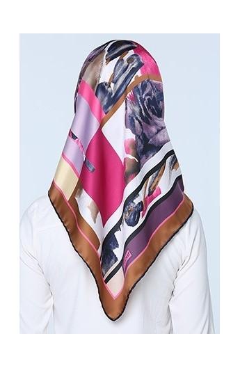 ست کیف روسری طرح دار زنانه