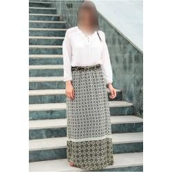 دامن بلند طرح دار زنانه