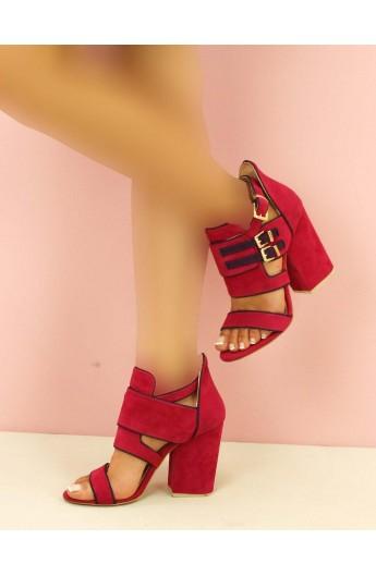 کفش سگک دارپاشنه بلند زنانه