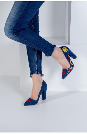 کفش طرح دار پاشنه دار زنانه