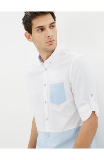 پیراهن دورنگ مردانه