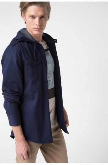 پیراهن کلاهدار مردانه