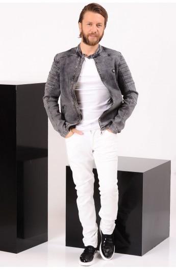 کت جین زیپ دار مردانه