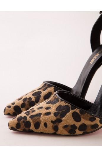 کفش پاشنه بلند طرح دار زنانه