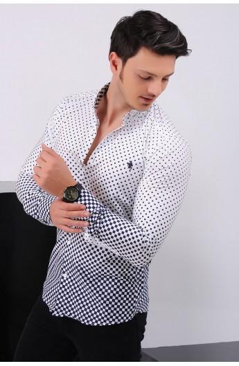 پیراهن طرحدار اسپرت