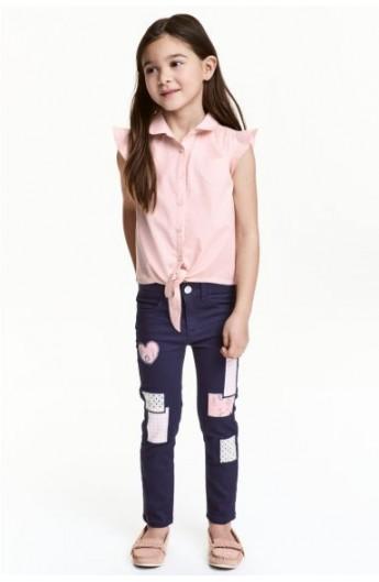 شلوار جین طرحدار دخترانه