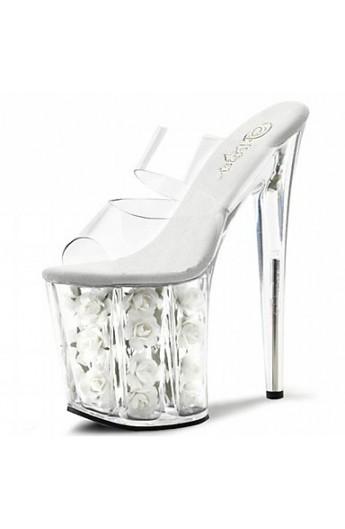 کفش پاشنه بلند شیشه ای زنانه