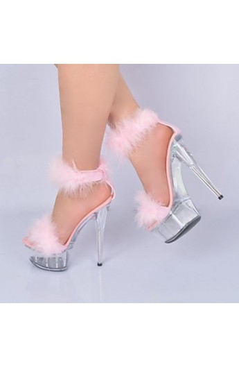 کفش پاشنه بلند مدل دار زنانه