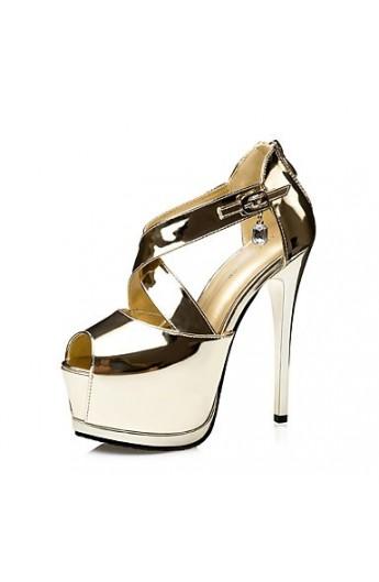کفش پاشنه بلند براق زنانه