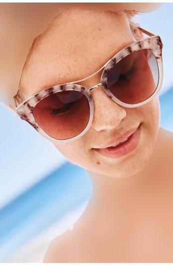 عینک دودی مدل دار زنانه