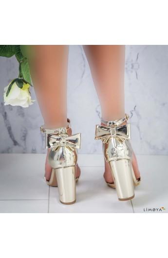 کفش پاپیون دار پاشنه بلند زنانه