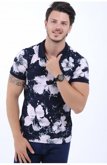 تیشرت گلدار مردانه