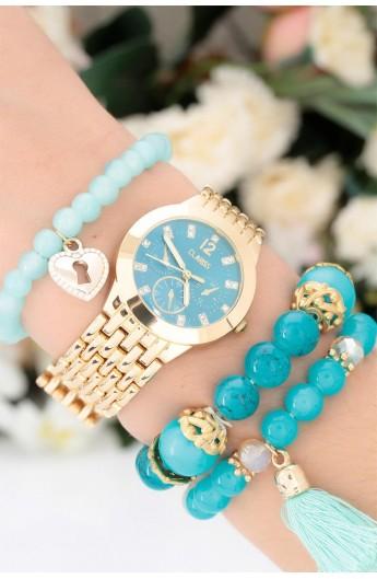 ست ساعت دستبند سنگی زنانه