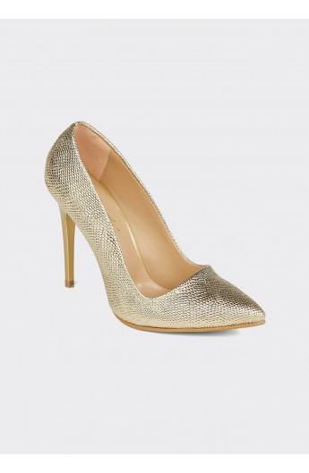 کفش پاشنه دار نقرهای زنانه