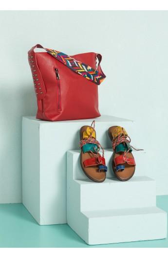 ست صندل و کیف دوشی زنانه